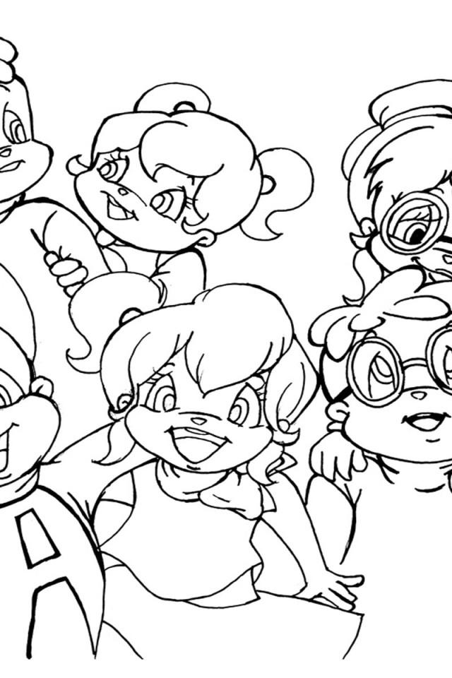 Coloriage Alvin et les Chipmunks #67 (Films d'animation ...
