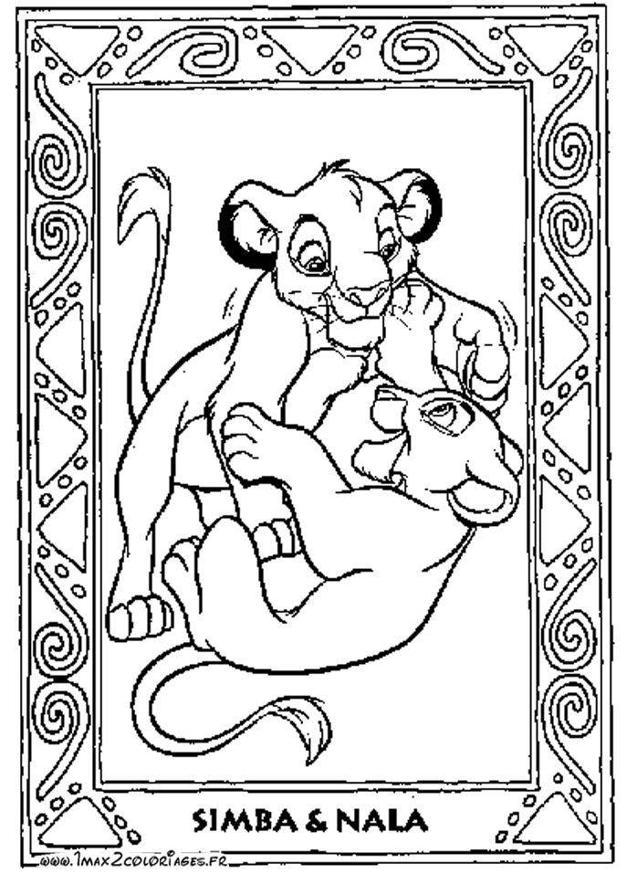 Coloriage Le Roi Lion #73628 (Films d'animation) - Album ...