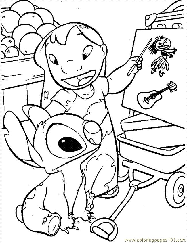 Coloriage Lilo & Stitch #44919 (Films d'animation) - Album ...