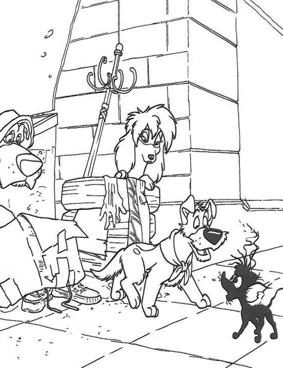 Coloriage Oliver et compagnie #28 (Films d'animation ...