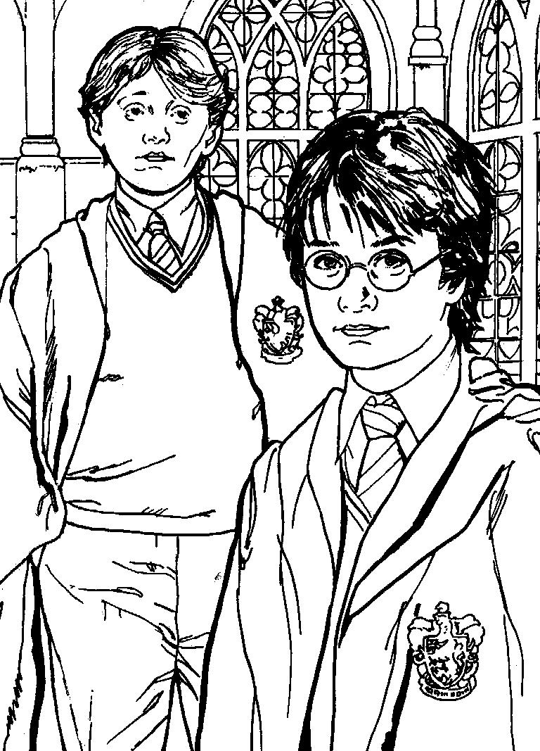 Coloriage Harry Potter #42 (Films) - Coloriages à imprimer