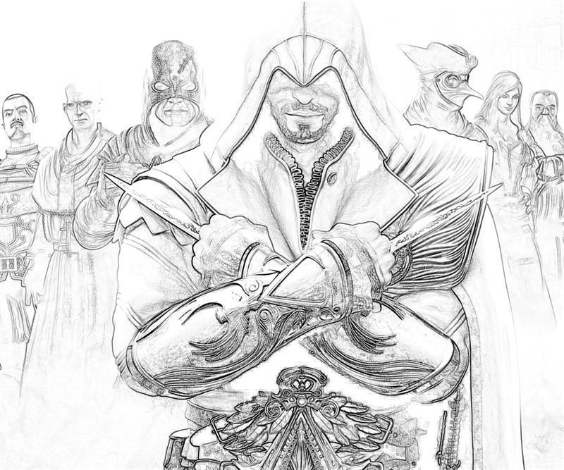 Coloriage Assassin's Creed #111940 (Jeux Vidéos) - Album ...