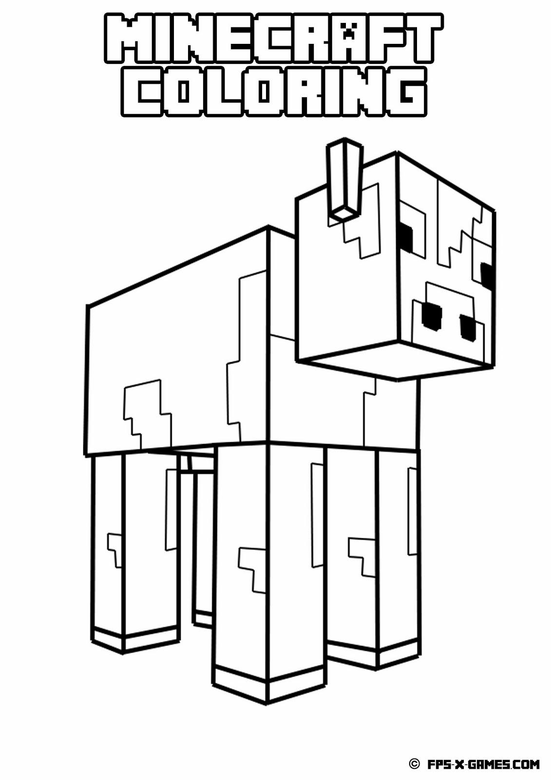 Coloriage Minecraft 28 Jeux Videos Coloriages A Imprimer