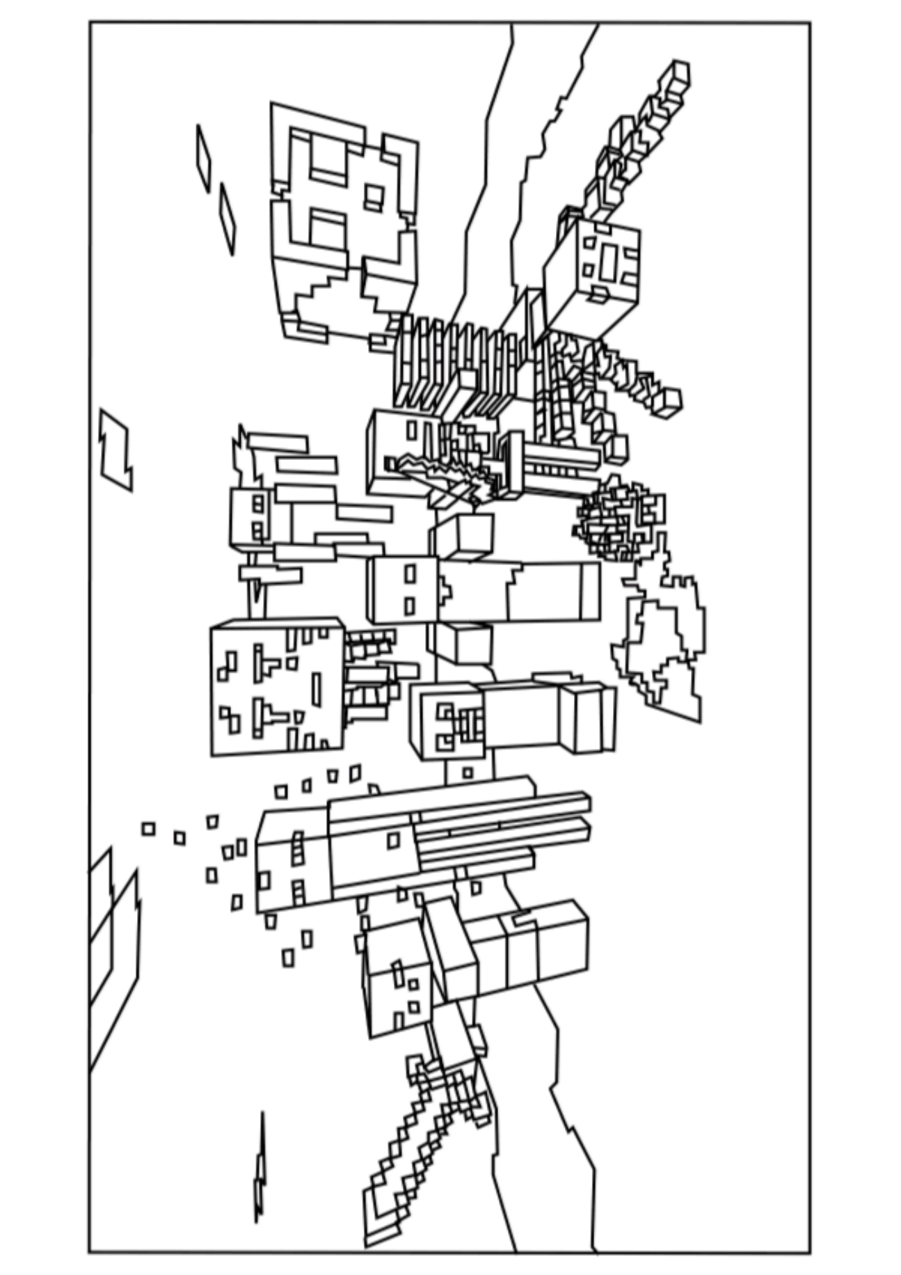 Coloriage Minecraft #108 (Jeux Vidéos) - Coloriages à imprimer