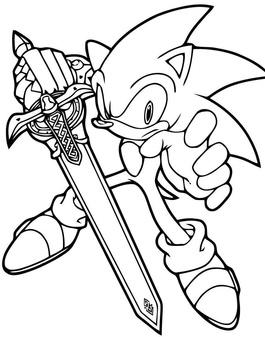 Coloriages Sonic Jeux Vidéos – Album de coloriages