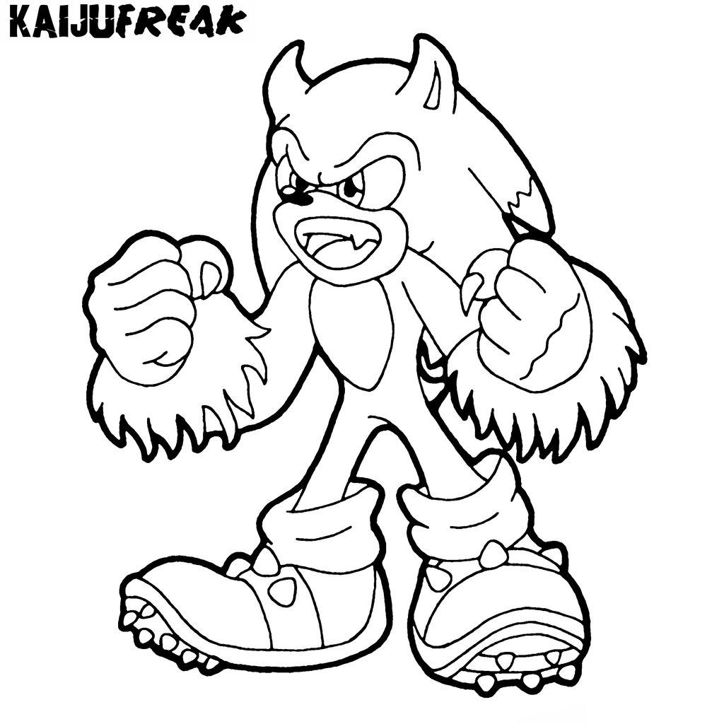 Coloriage Sonic #153861 (Jeux Vidéos) - Album de coloriages