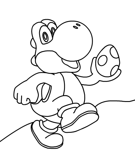 Coloriage Yoshi #13 (Jeux Vidéos) - Coloriages à imprimer