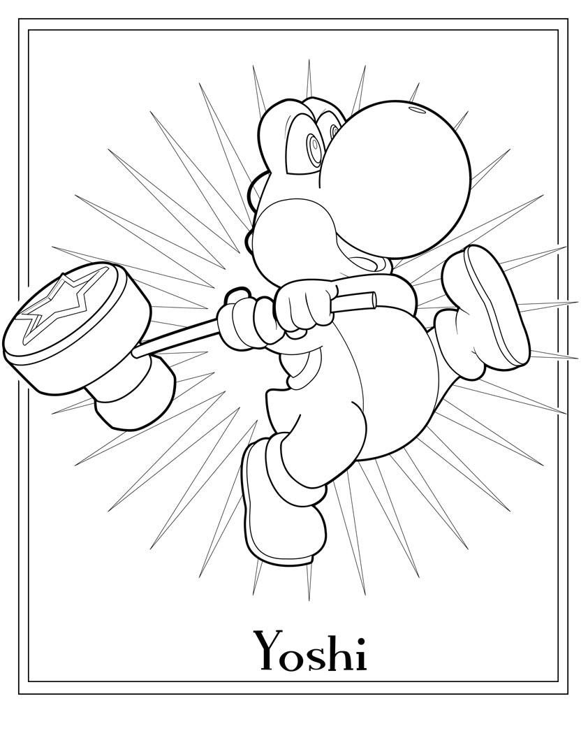 coloriage yoshi 113508 jeux vidéos  album de coloriages