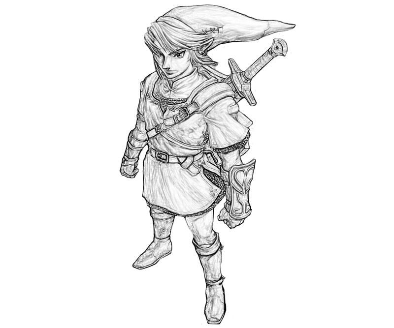 Coloriages Zelda Jeux Videos Album De Coloriages