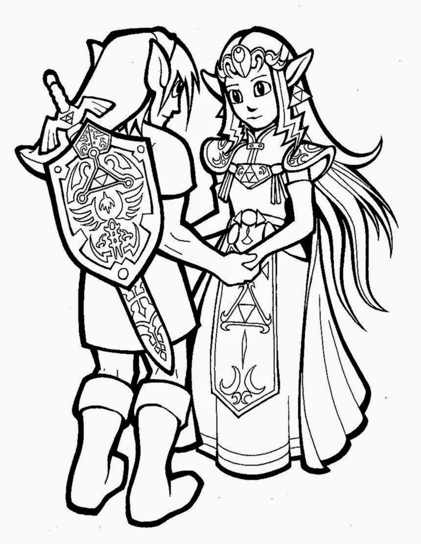 Coloriage Zelda #113299 (Jeux Vidéos) - Album de coloriages