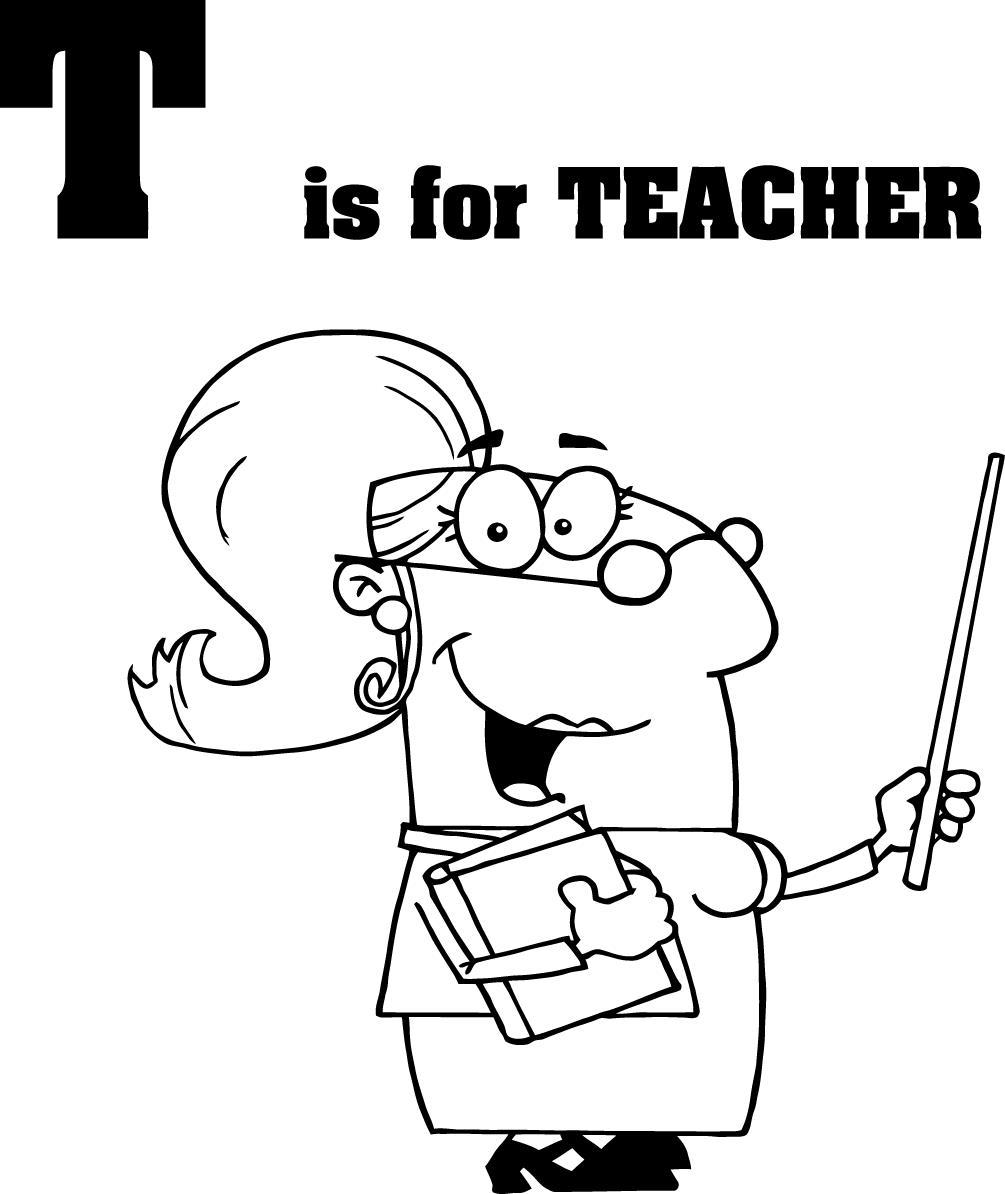Coloriage Enseignant / Enseignante #94215 (Métiers et ...
