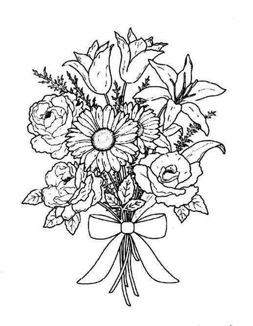 Coloriage Bouquet de fleurs #160806 (Nature) - Album de ...