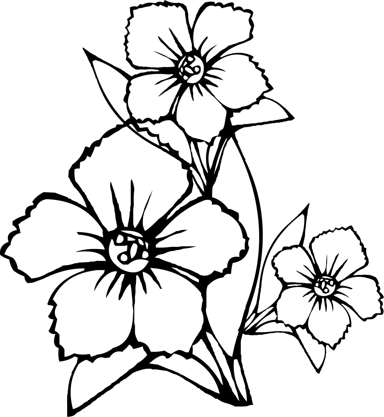 Coloriage Bouquet de fleurs #123 (Nature) - Coloriages à ...
