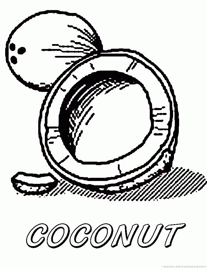 Coloriage Cocotier #162373 (Nature) - Album de coloriages