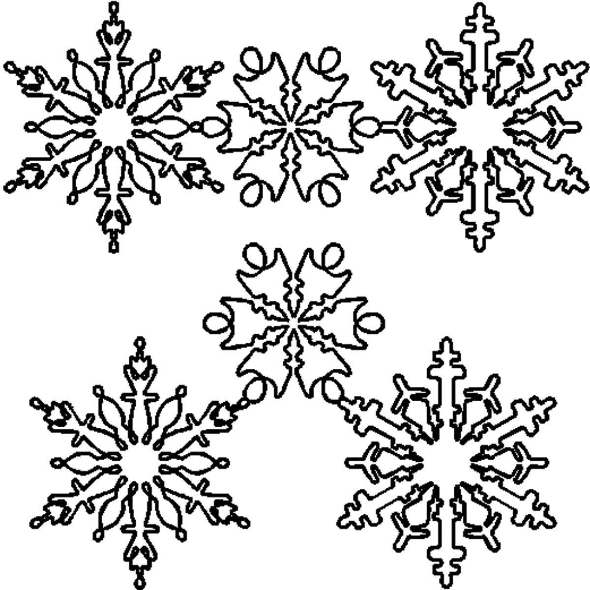 Coloriage Flocon de Neige #23 (Nature) - Coloriages à imprimer