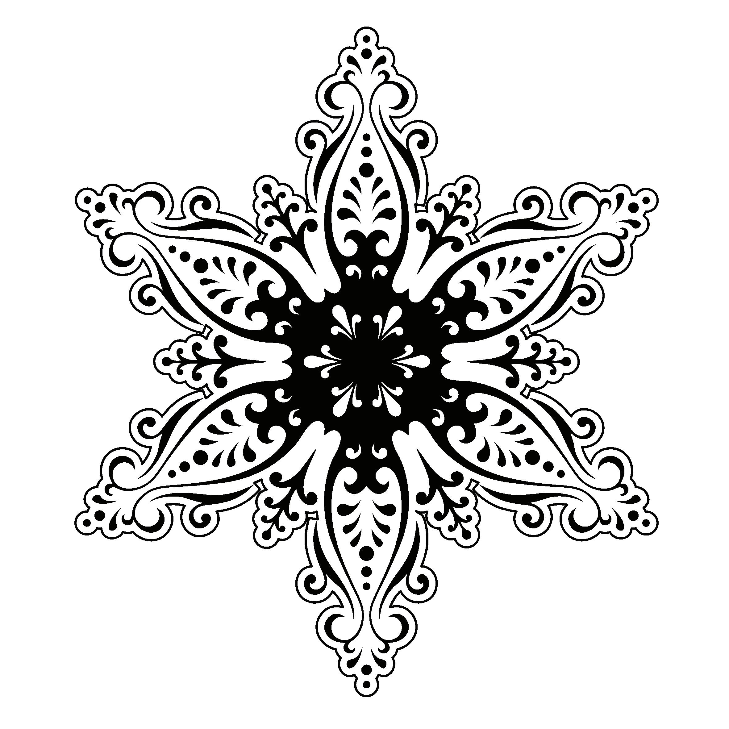 Coloriage Flocon de Neige #82 (Nature) - Coloriages à imprimer