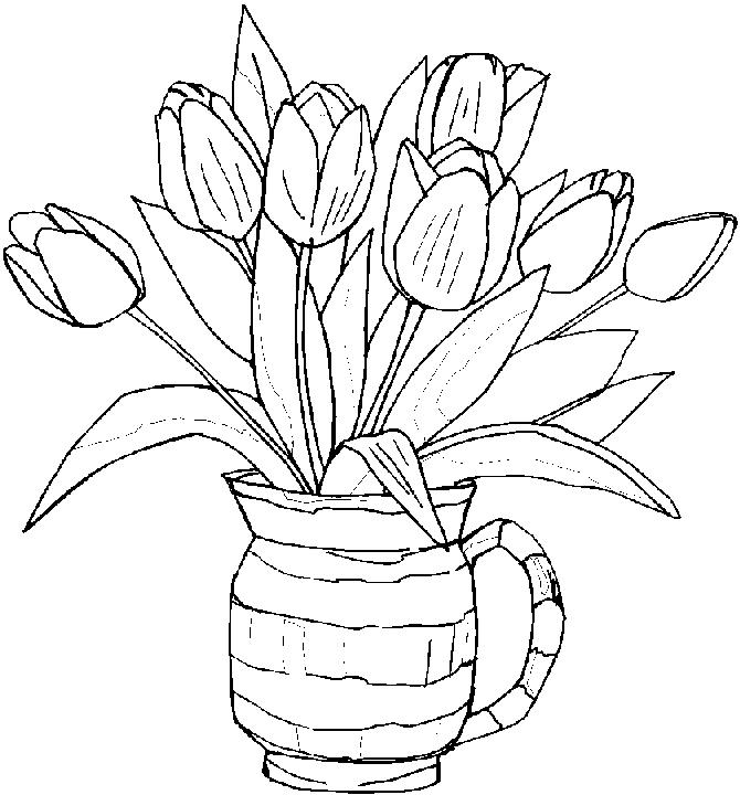 Coloriage Tulipe #161653 (Nature) - Album de coloriages