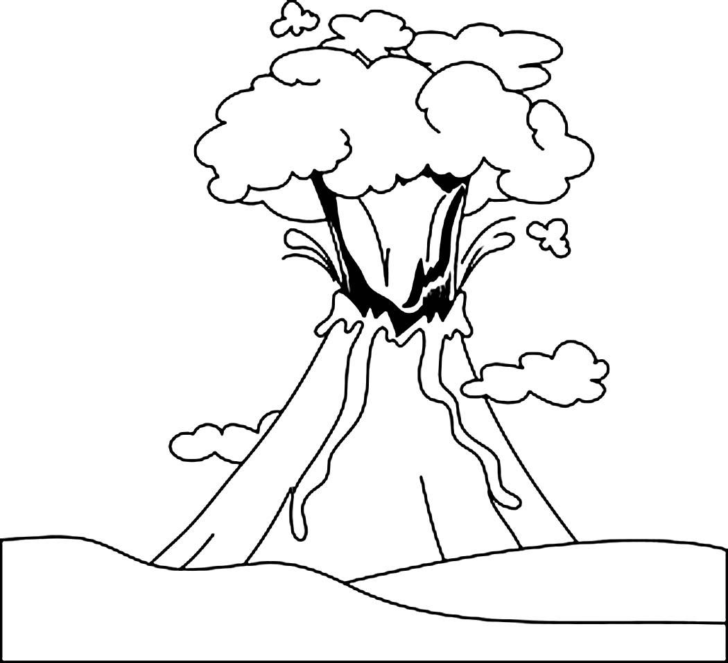 Coloriage Volcan #166575 (Nature) - Album de coloriages
