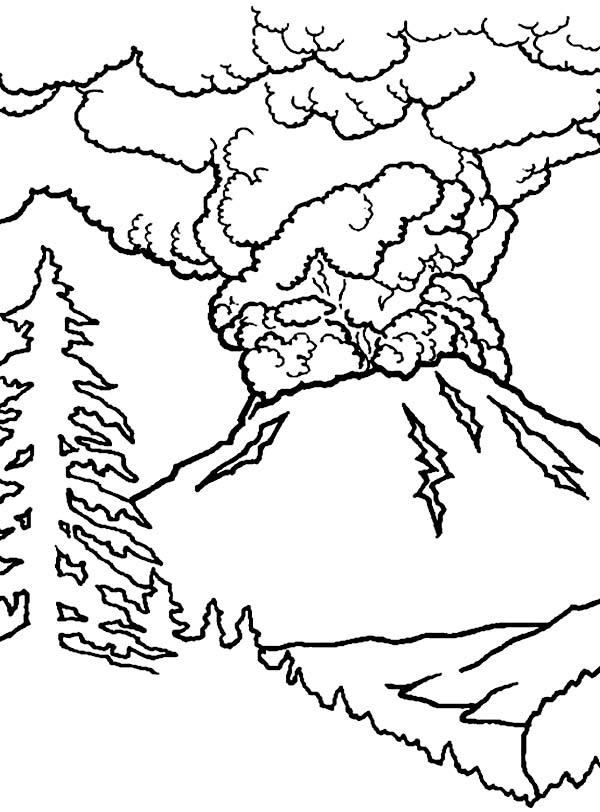 Coloriage Volcan #166641 (Nature) - Album de coloriages
