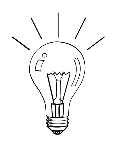 Coloriage Ampoule Electrique 119500 Objets Album De Coloriages