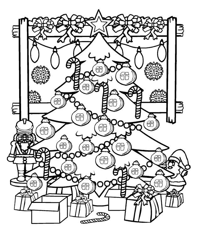 Coloriage Sapin de Noël #167473 (Objets) - Album de coloriages