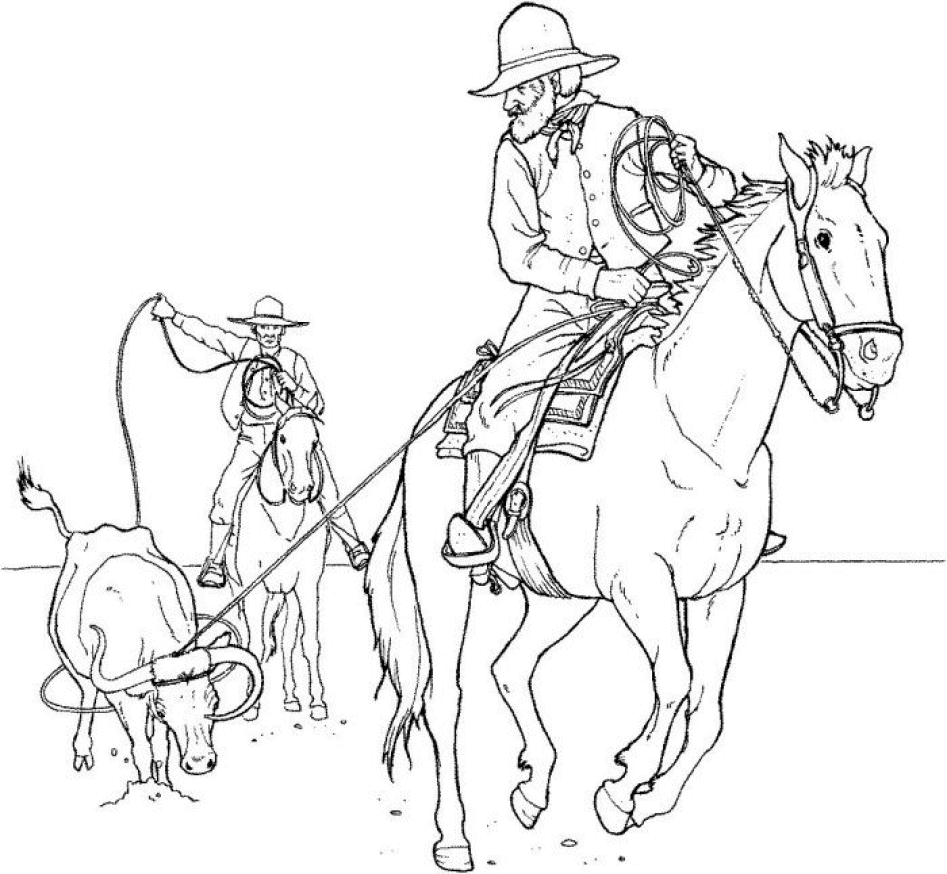 coloriage cowboy 1 personnages  coloriages à imprimer