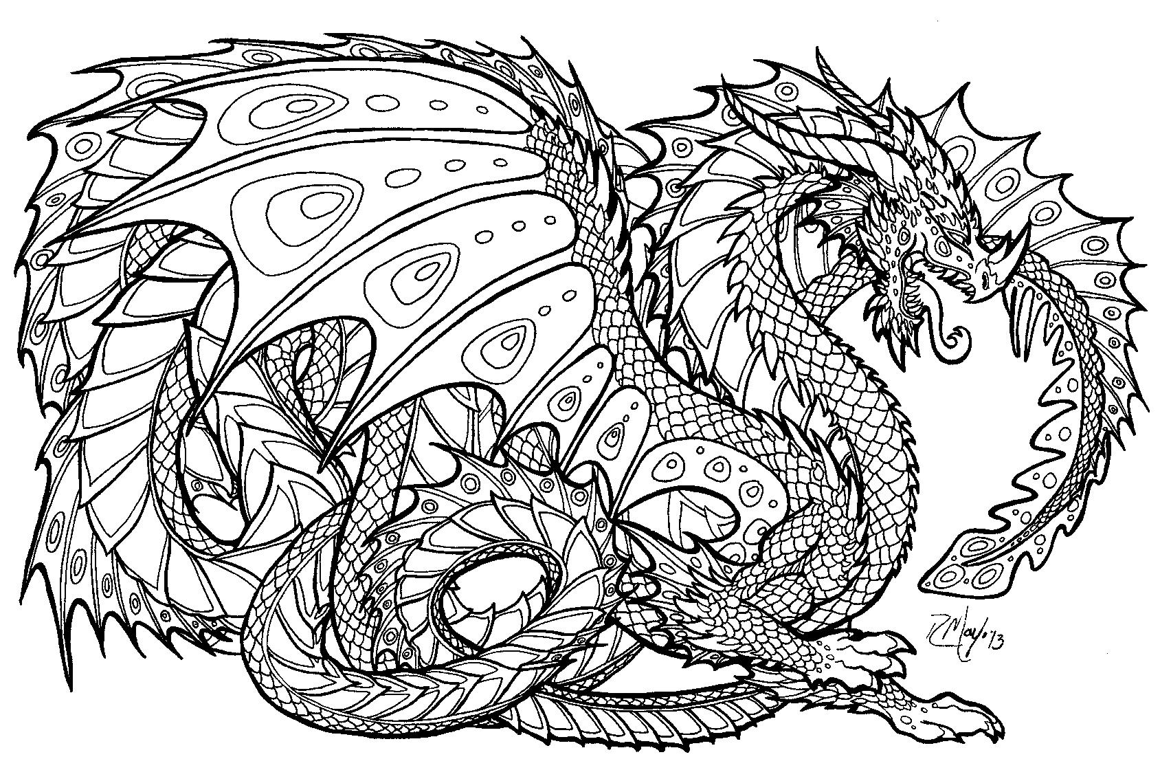 Coloriages Dragon Personnages Album De Coloriages