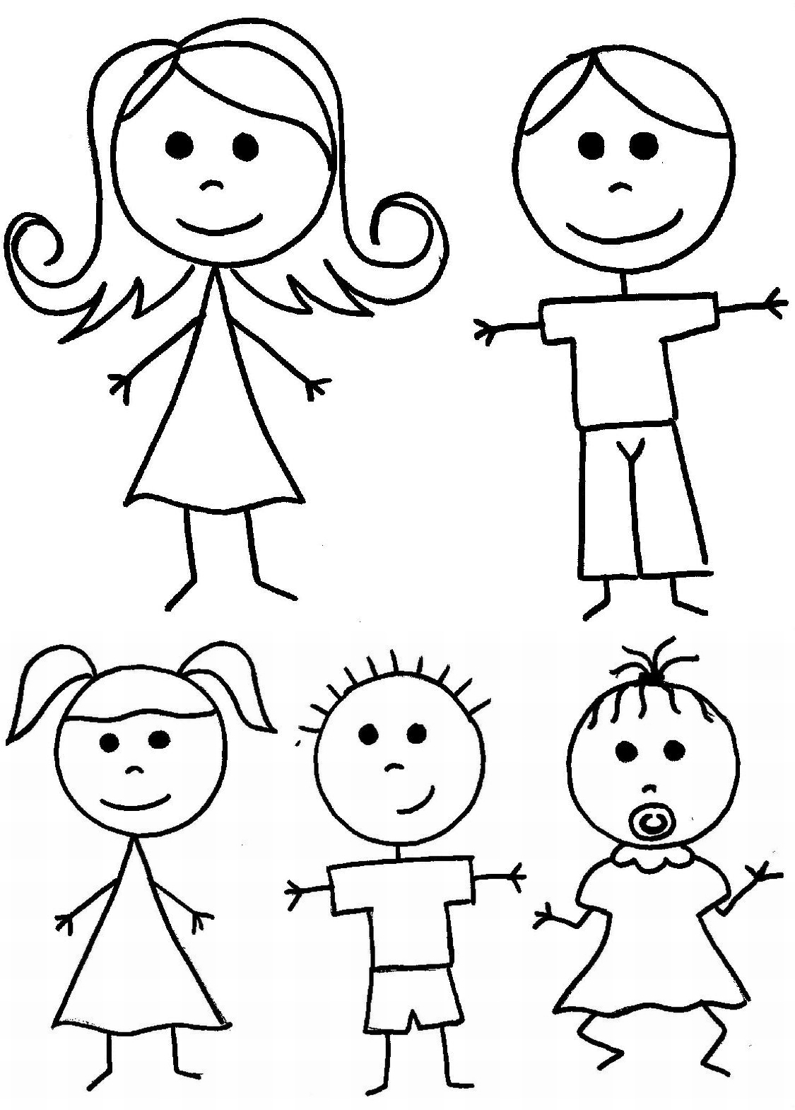 Coloriage Famille 32 Personnages – Album de coloriages