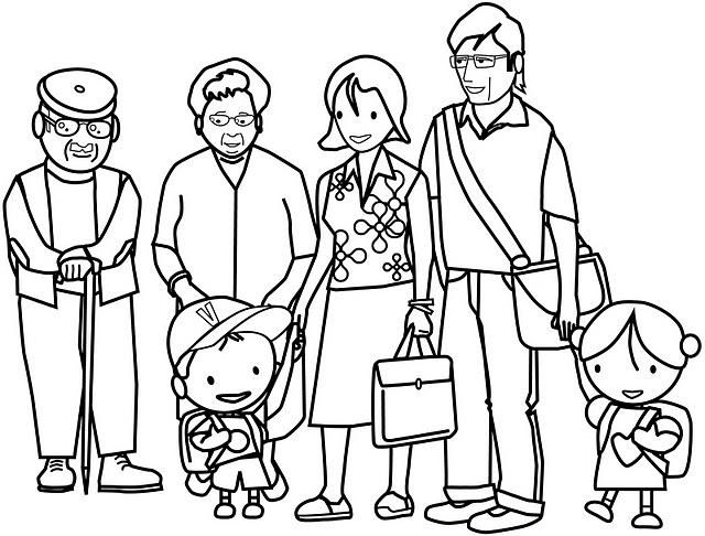 Coloriage Famille #88 (Personnages) - Coloriages à imprimer