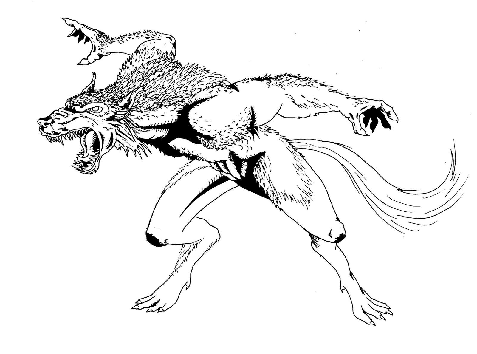 Coloriage Loup garou #21 (Personnages) - Coloriages à imprimer