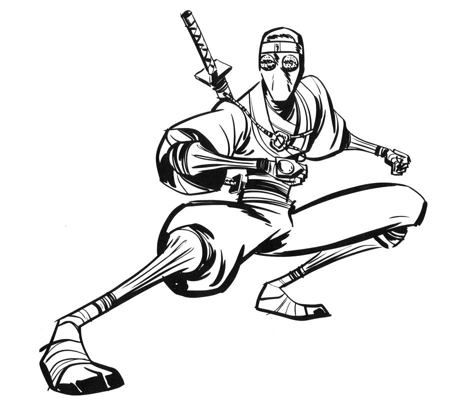 Coloriage Ninja #32 (Personnages) - Coloriages à imprimer