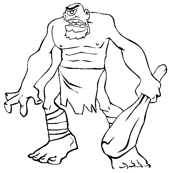 Coloriages Ogre Personnages Album De Coloriages