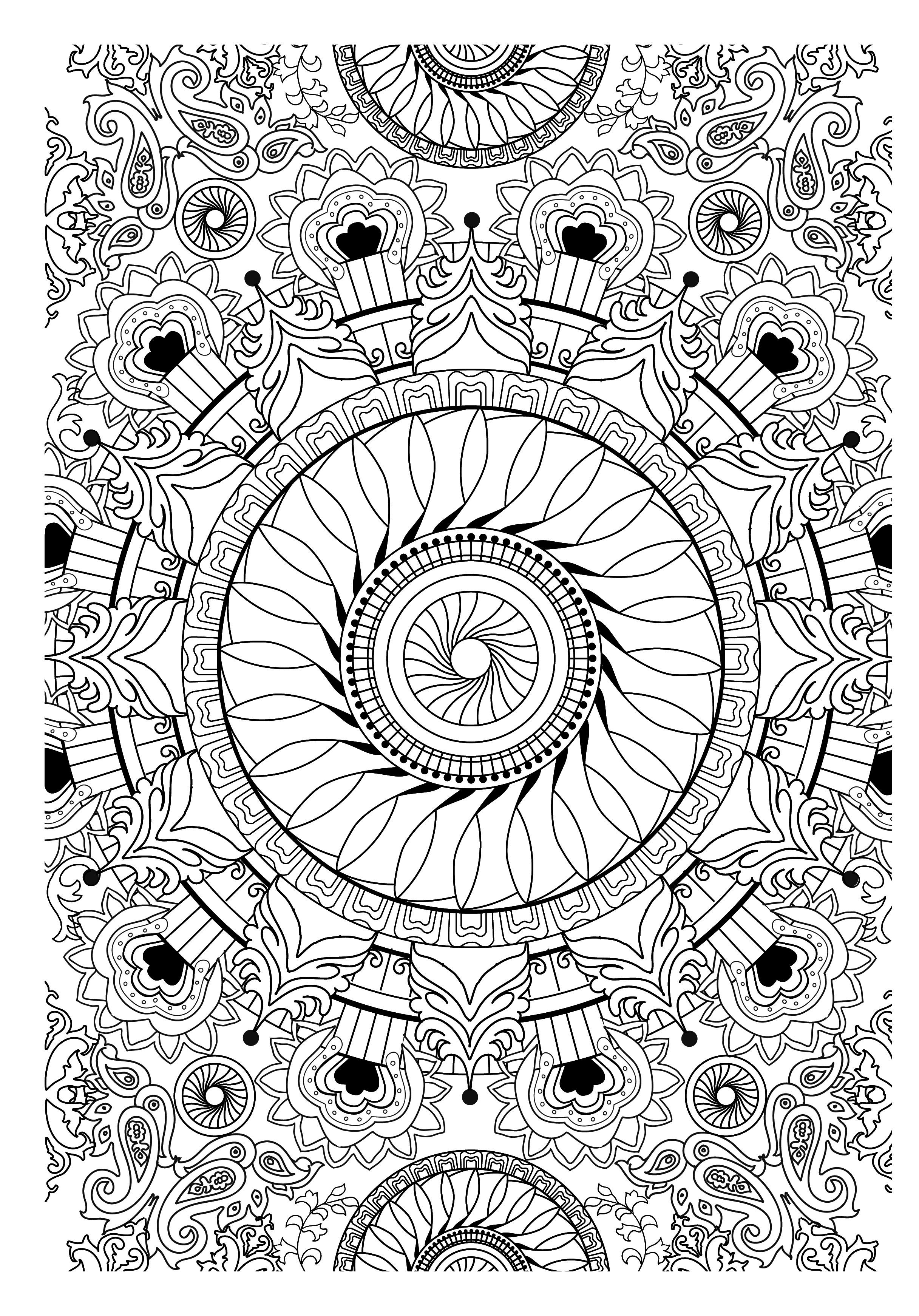 Coloriage Art Therapie 23097 Relaxation Album De Coloriages