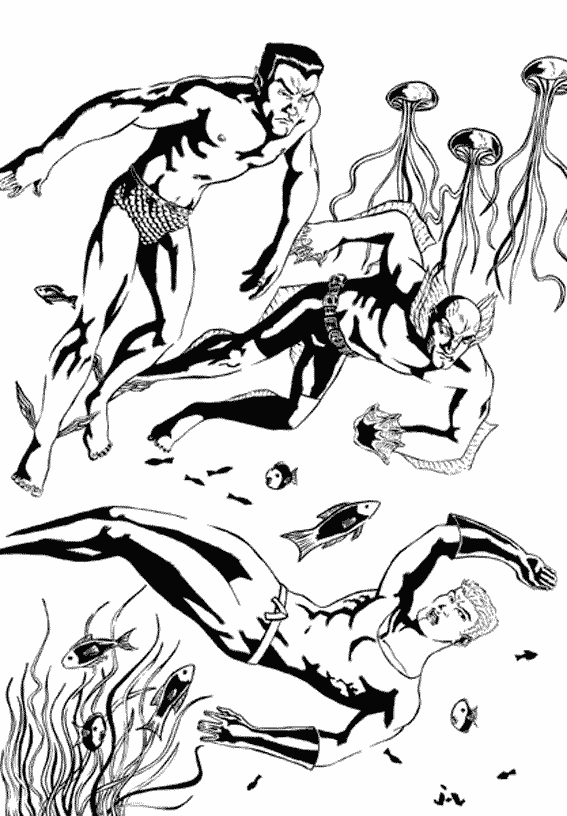 Coloriage Aquaman #44 (Super-héros) - Coloriages à imprimer