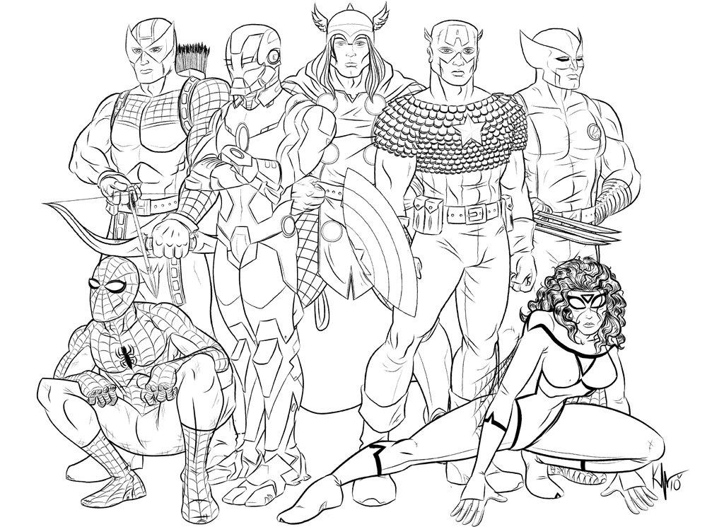 Coloriages Avengers (Super-héros) - Album de coloriages