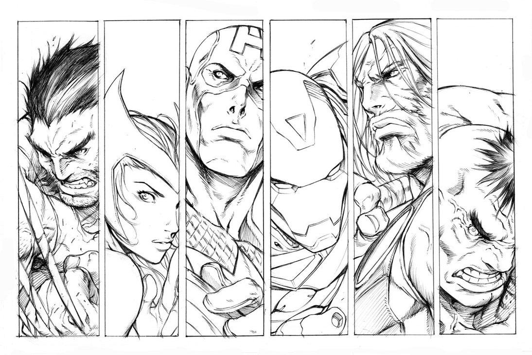 Coloriages Avengers Super Heros Album De Coloriages