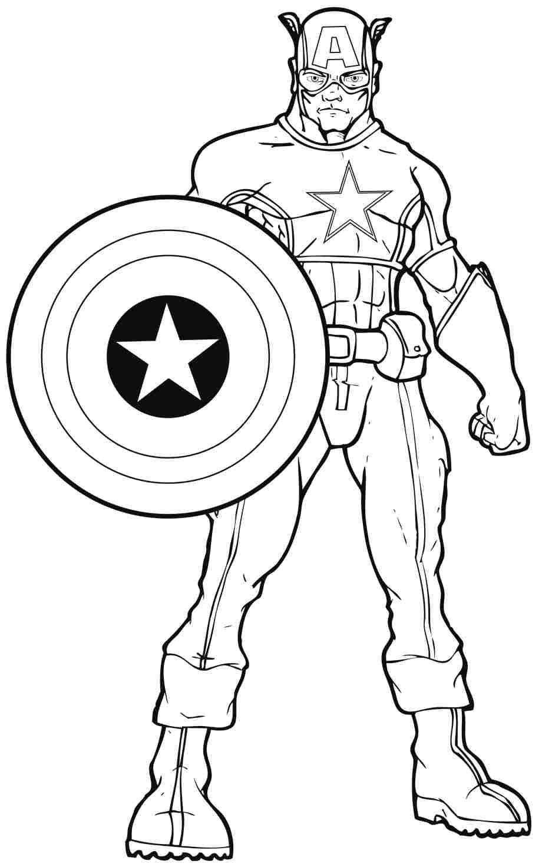 Coloriages Captain America Super Heros Album De Coloriages