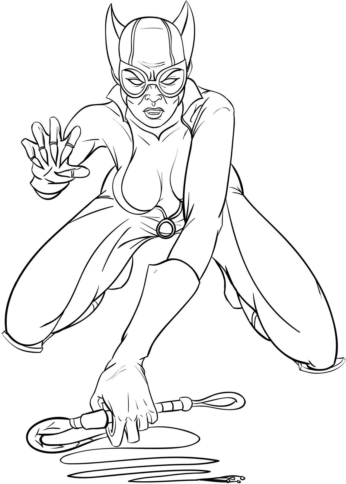 Coloriages Catwoman (Super-héros) - Coloriages à imprimer