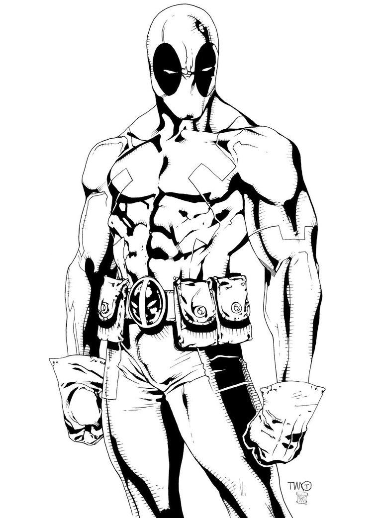 Coloriage Deadpool #82824 (Super-héros) - Album de coloriages