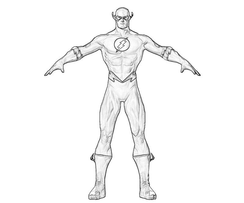 Coloriage Flash #8 (Super-héros) - Coloriages à imprimer