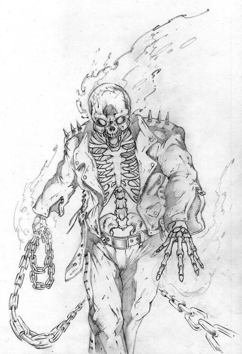 Coloriage Ghost Rider 82029 Super Heros Album De Coloriages