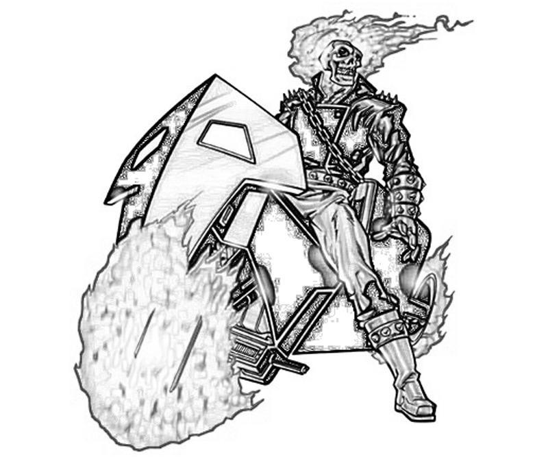 Coloriages Ghost Rider Super Heros Album De Coloriages