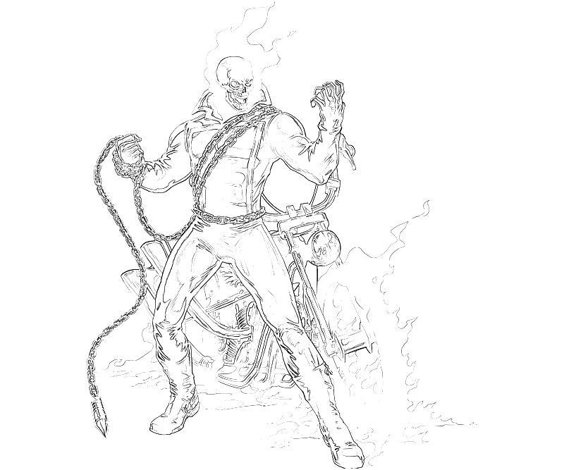 Coloriage Ghost Rider #82037 (Super-héros) - Album de ...