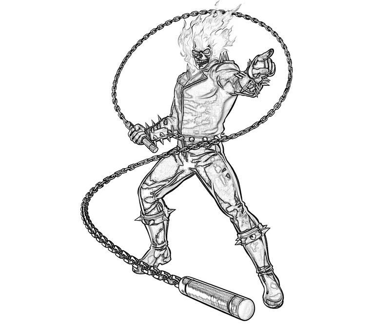 Coloriage Ghost Rider #82046 (Super-héros) - Album de ...