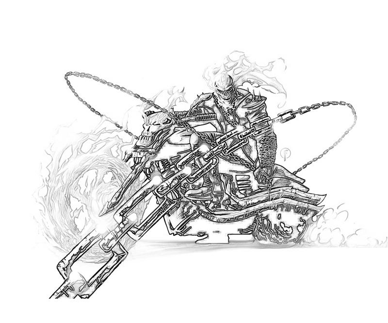 Coloriage Ghost Rider #82048 (Super-héros) - Album de ...