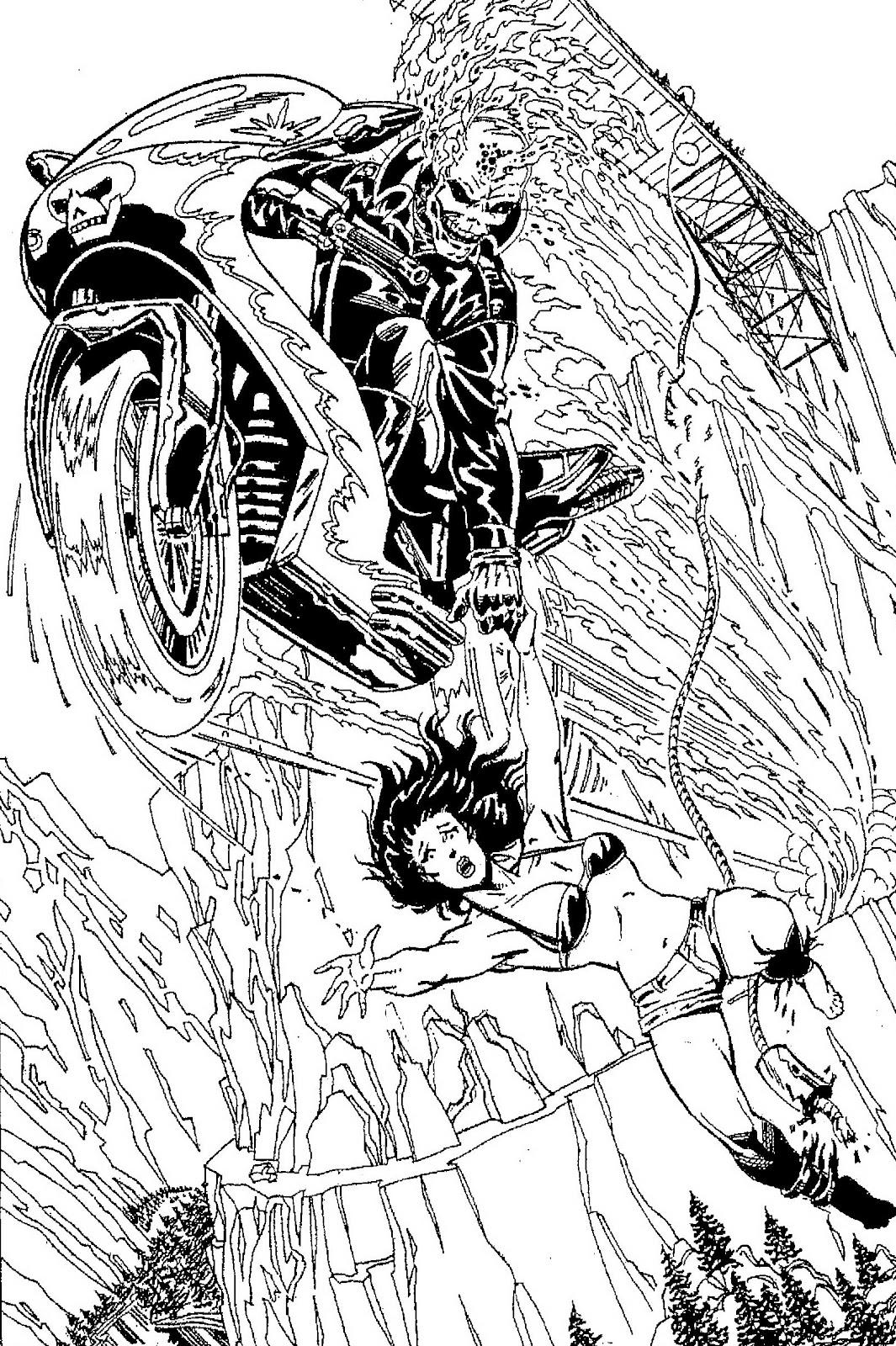 Coloriage Ghost Rider #82067 (Super-héros) - Album de ...