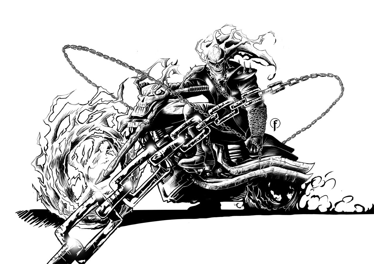 Coloriage Ghost Rider #24 (Super-héros) - Coloriages à ...