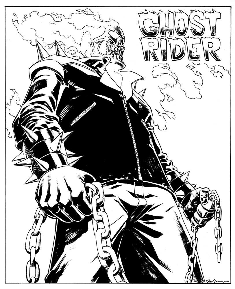 Coloriage Ghost Rider #82088 (Super-héros) - Album de ...
