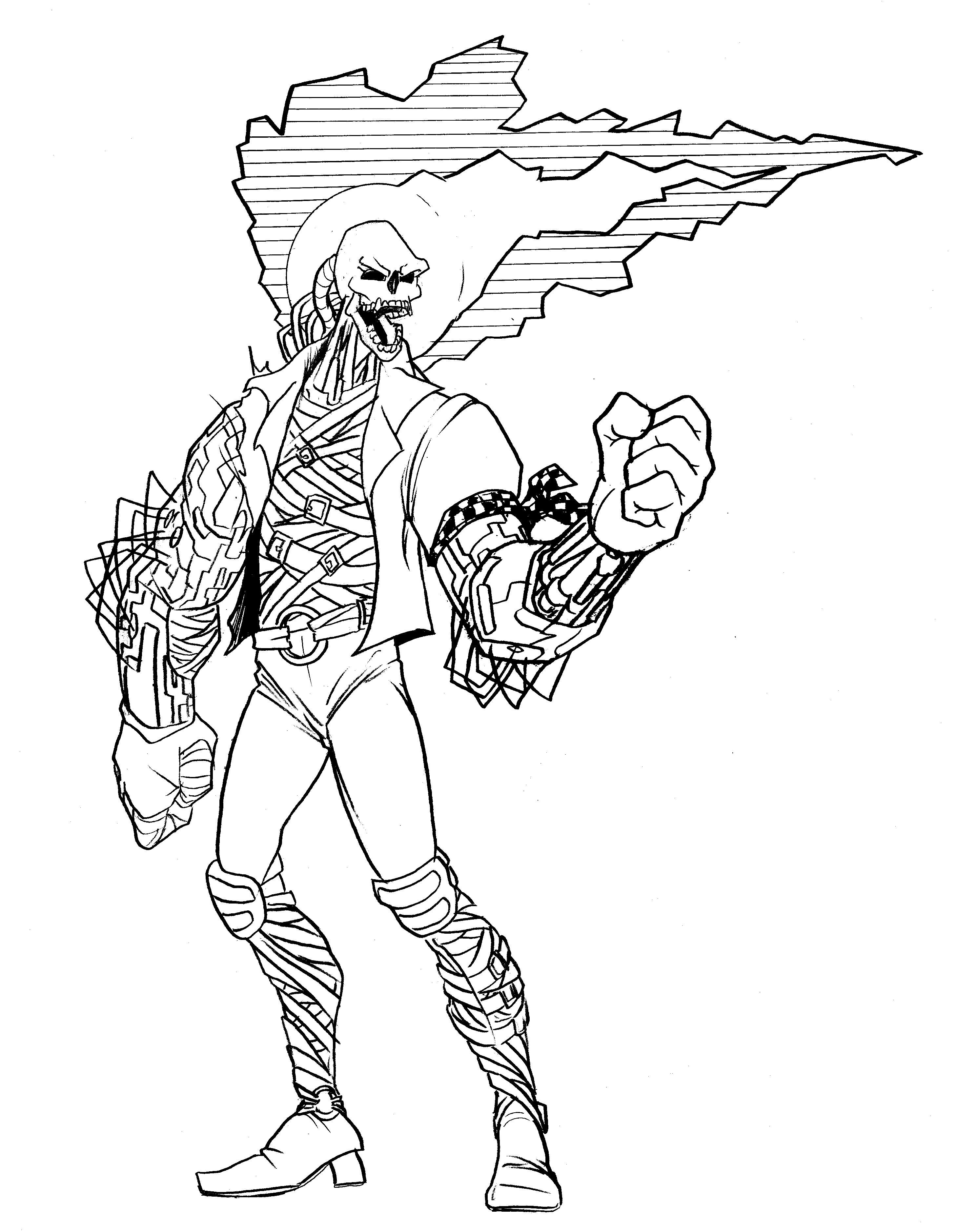 Coloriage Ghost Rider #82109 (Super-héros) - Album de ...