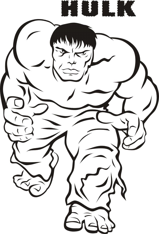 Coloriages Hulk (Super-héros) - Page 2 - Coloriages à imprimer